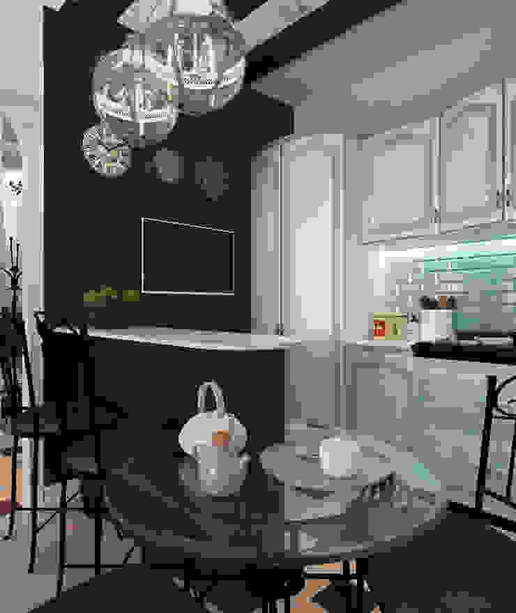 """<q class=""""-first""""> Французский штрих </q> Квартира 68 кв.м, МО Кухня в стиле кантри от Krupp Interiors Кантри"""
