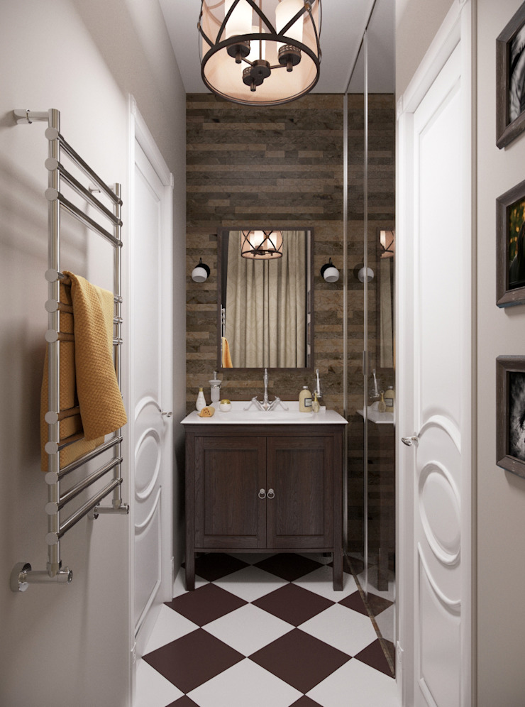Ванная комната Ванная комната в стиле кантри от Krupp Interiors Кантри