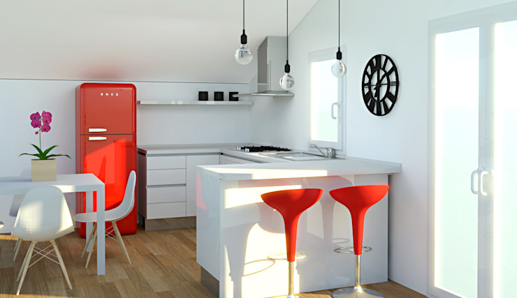OGARREDO 現代廚房設計點子、靈感&圖片 White