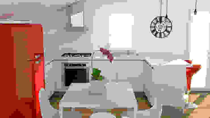 Cucina in mansarda Cucina moderna di OGARREDO Moderno