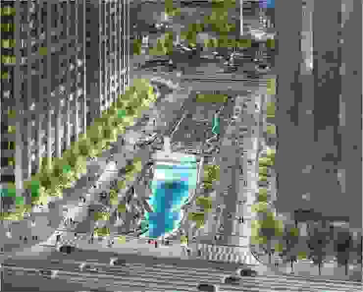 CheongGye Plaza- Night variation 인더스트리얼 정원 by Seo Ahn R&D Design Group 인더스트리얼