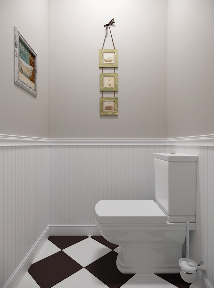 Salle de bain rurale par Krupp Interiors Rural