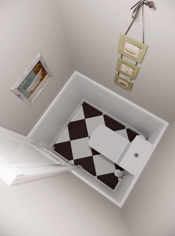 """<q class=""""-first""""> Французский штрих </q> Квартира 68 кв.м, МО Ванная комната в стиле кантри от Krupp Interiors Кантри"""