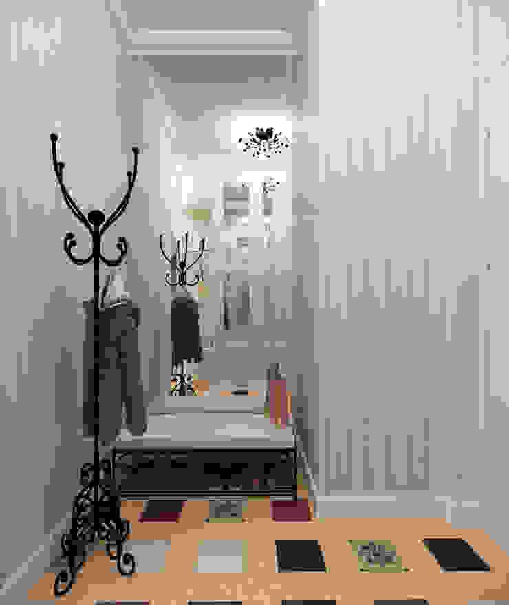 """<q class=""""-first""""> Французский штрих </q> Квартира 68 кв.м, МО Коридор, прихожая и лестница в стиле кантри от Krupp Interiors Кантри"""