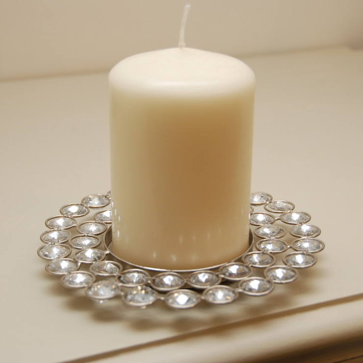 Jewelled Pillar Candleholder par Adventino Classique