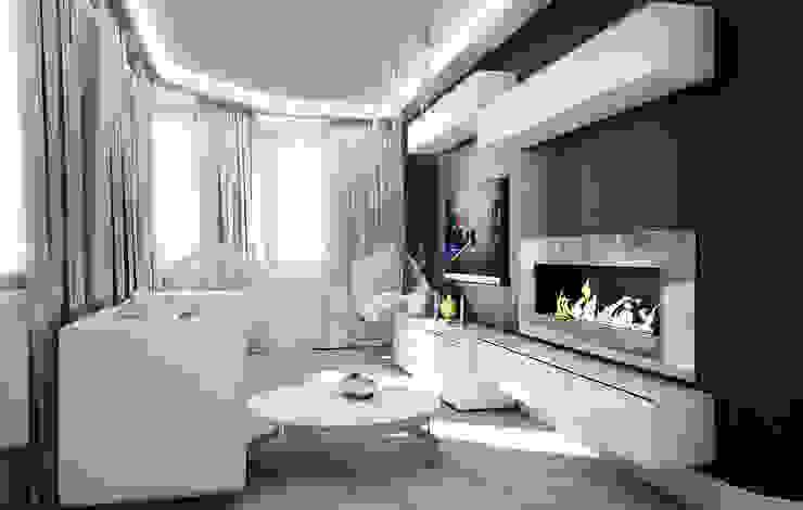 Квартира в Кунцево Гостиная в стиле минимализм от AFTER SPACE Минимализм
