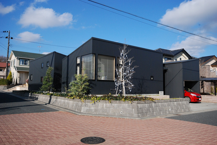 背景としての佇まい モダンな 家 の 一級建築士事務所A-SA工房 モダン