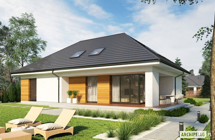 Casas modernas: Ideas, diseños y decoración de Pracownia Projektowa ARCHIPELAG Moderno