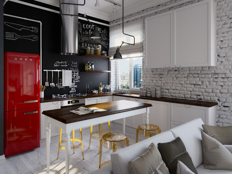 Industrial style kitchen by Aiya Design Industrial