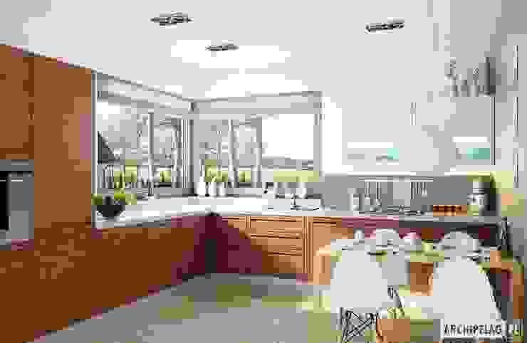 Cucina moderna di Pracownia Projektowa ARCHIPELAG Moderno