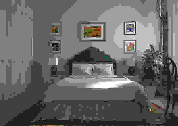 Дизайн проект квартиры в стиле эклектика Спальня в эклектичном стиле от Альбина Романова Эклектичный