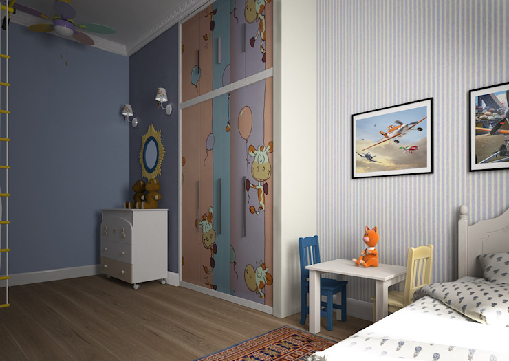 Дизайн проект квартиры в стиле эклектика Детские комната в эклектичном стиле от Альбина Романова Эклектичный