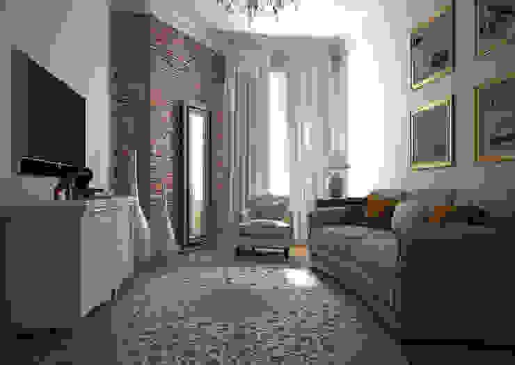 Дизайн проект квартиры в стиле эклектика Рабочий кабинет в эклектичном стиле от Альбина Романова Эклектичный