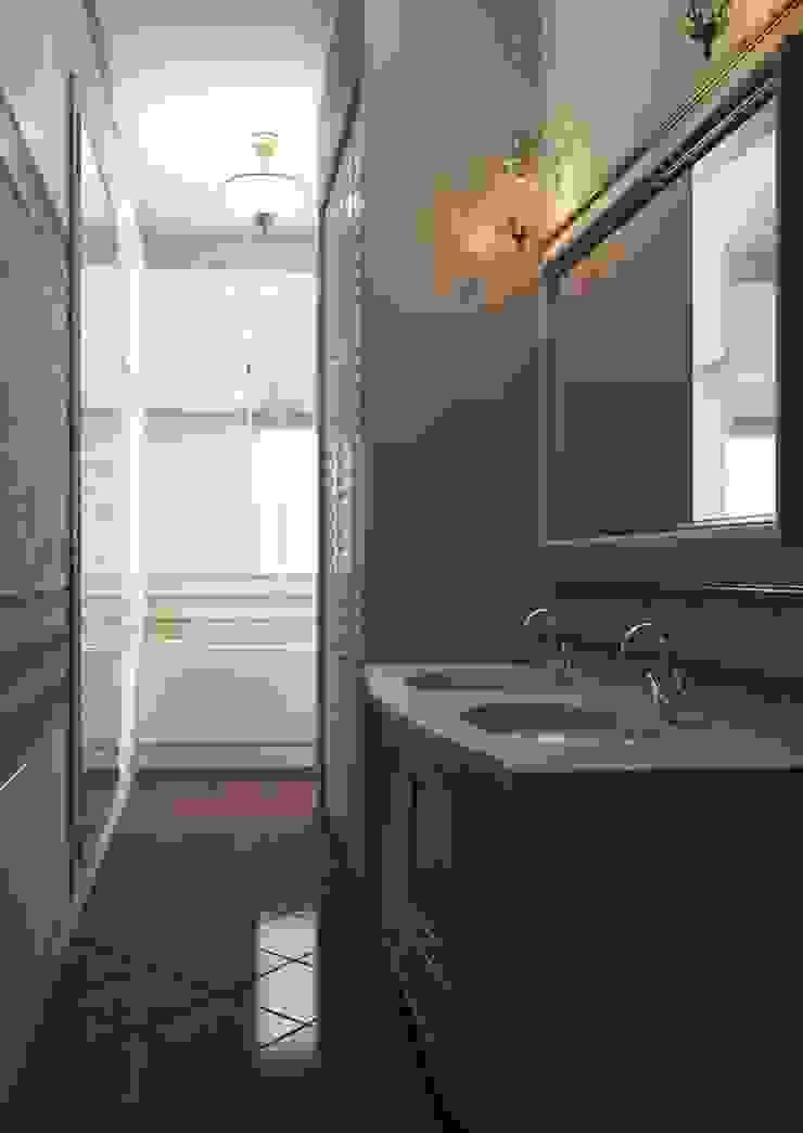 Дизайн проект квартиры в стиле эклектика Ванная комната в эклектичном стиле от Альбина Романова Эклектичный