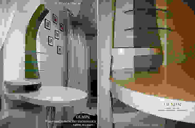 Дизайн – шкафы, тумбочки и пр. ИП OLMIN - Архитектурная студия Олега Минакова КухняСтолы и стулья МДФ Бежевый