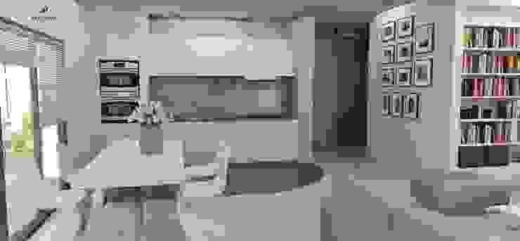Minimalistyczny apartament Nowoczesna jadalnia od Artenova Design Nowoczesny