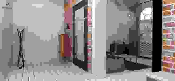 Rstykalne mieszkanie w kamienicy Warszawa Nowoczesny korytarz, przedpokój i schody od Artenova Design Nowoczesny