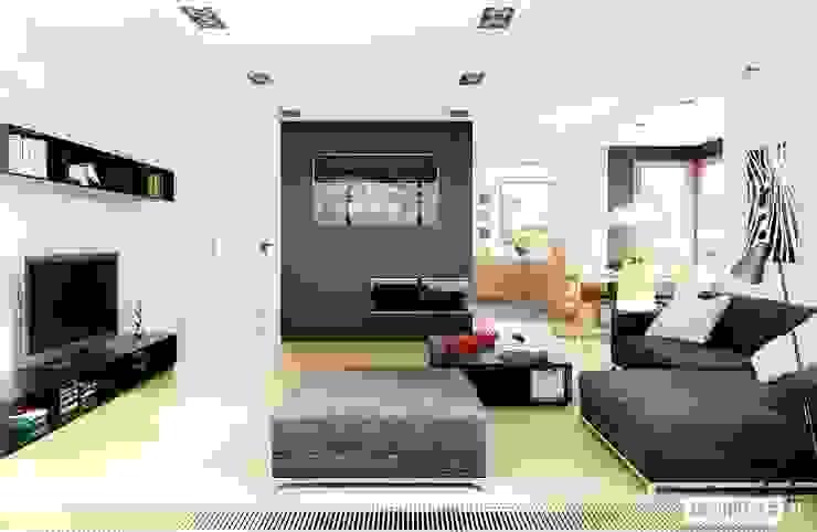 Salon de style  par Pracownia Projektowa ARCHIPELAG,