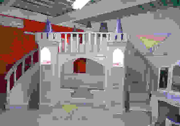 Divino castillo majestuoso de camas y literas infantiles kids world Clásico