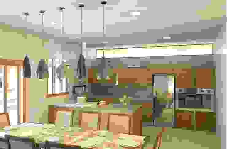 Cozinha e copa integradas Cozinhas modernas por Patrícia Alvarenga Moderno
