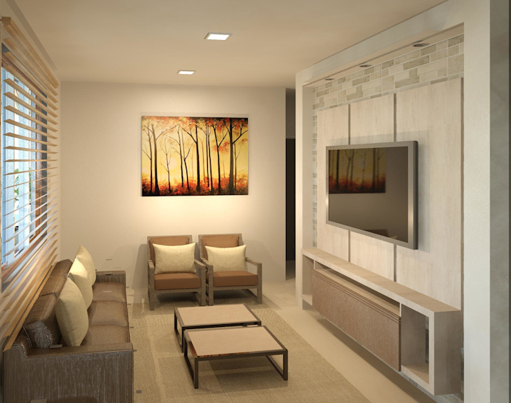 Sala de TV Salas de estar modernas por Patrícia Alvarenga Moderno