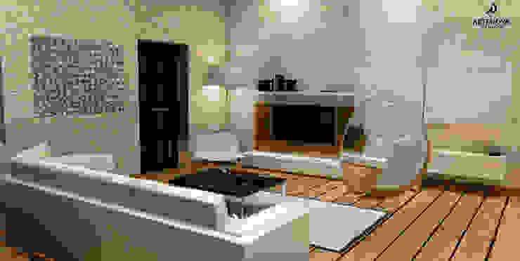 Loft w Łodzi Industrialny salon od Artenova Design Industrialny
