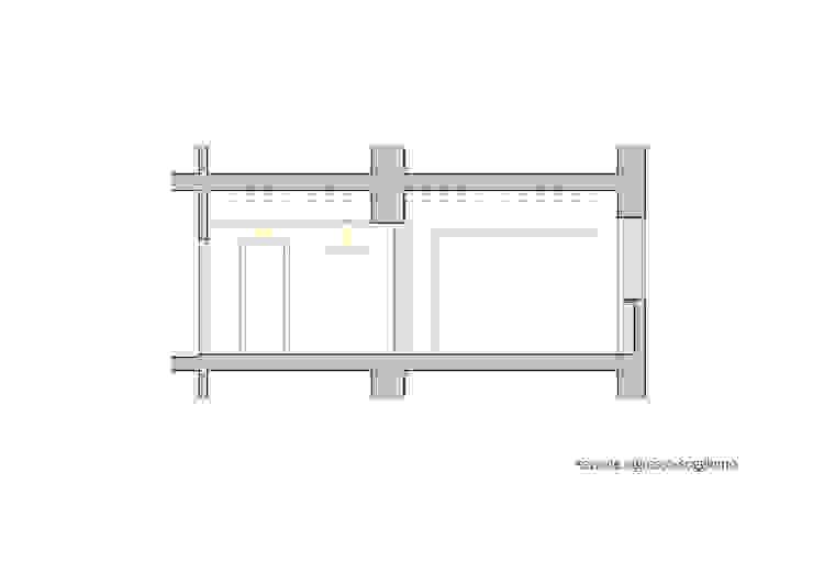 Sezione ingresso-soggiorno di Lorenzo Rossi | Architetto Moderno