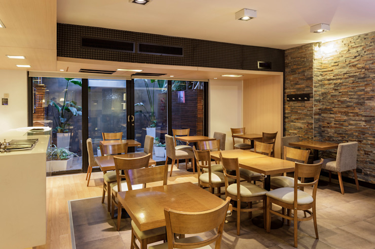 HOTEL MICROCENTRO PORTEÑO Gastronomía de estilo moderno de Estudio Arqt Moderno