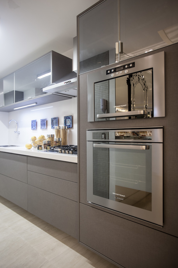 Projeto Cozinhas minimalistas por Leonardo Maia Arquitetos Minimalista