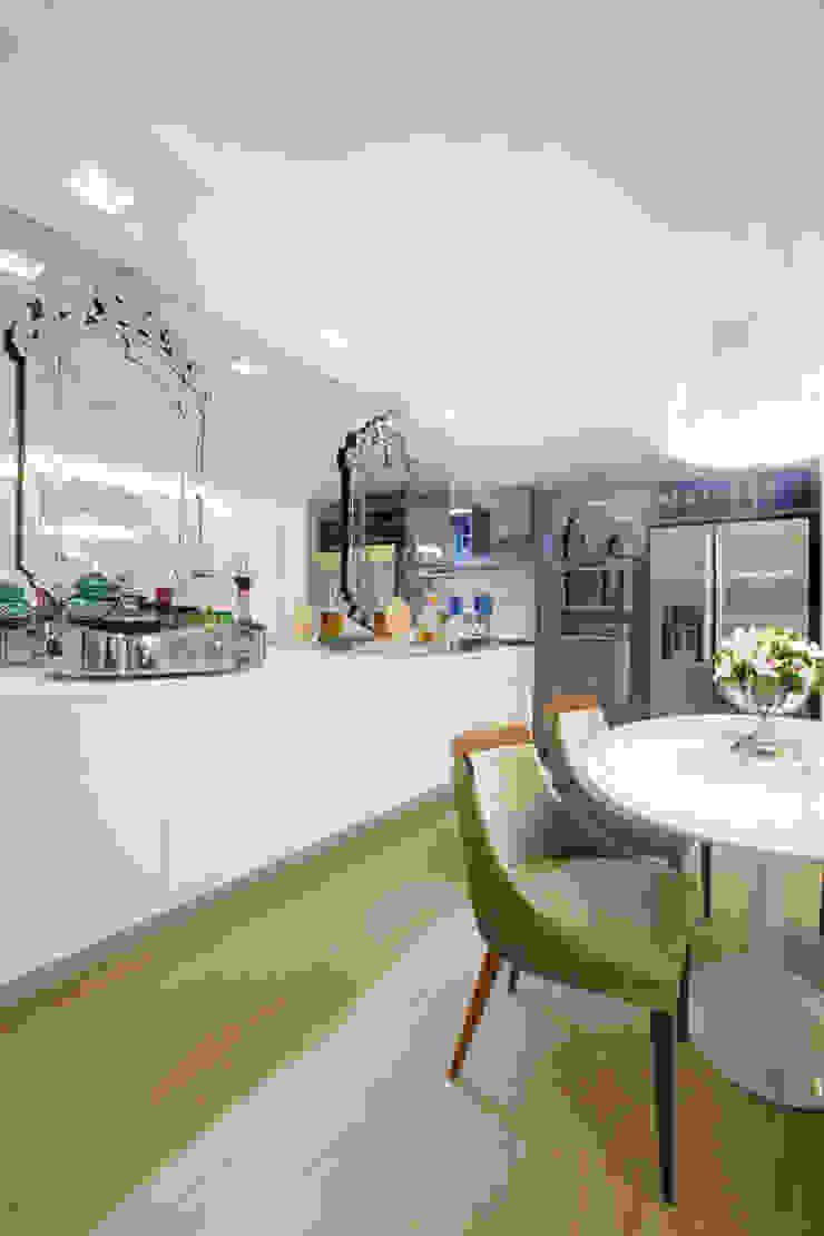 Projeto Salas de jantar minimalistas por Leonardo Maia Arquitetos Minimalista