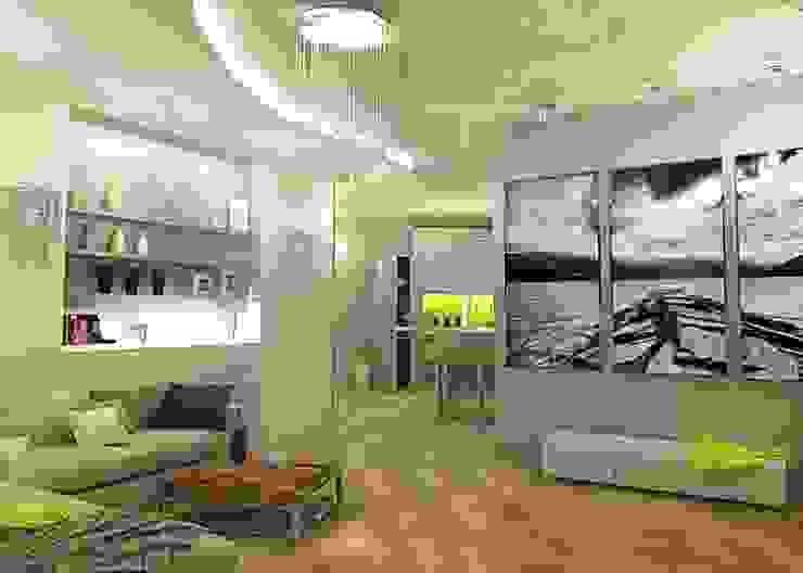 Квартира - студия Гостиная в стиле модерн от Мозжерина Марина Модерн
