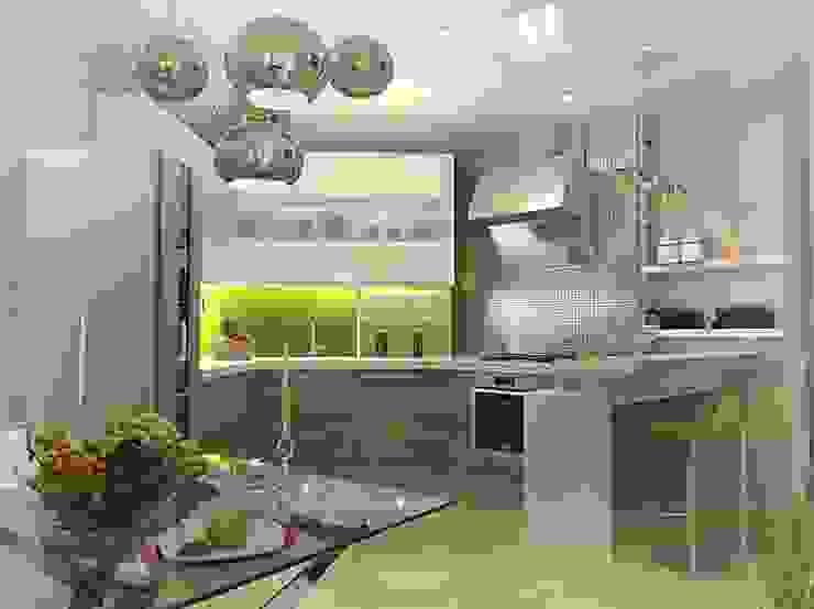 Квартира – студия Кухня в стиле модерн от Мозжерина Марина Модерн