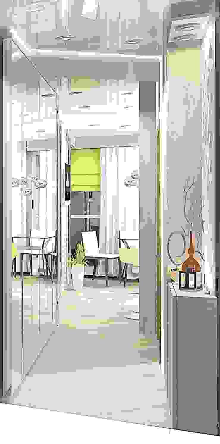 Квартира – студия Коридор, прихожая и лестница в модерн стиле от Мозжерина Марина Модерн