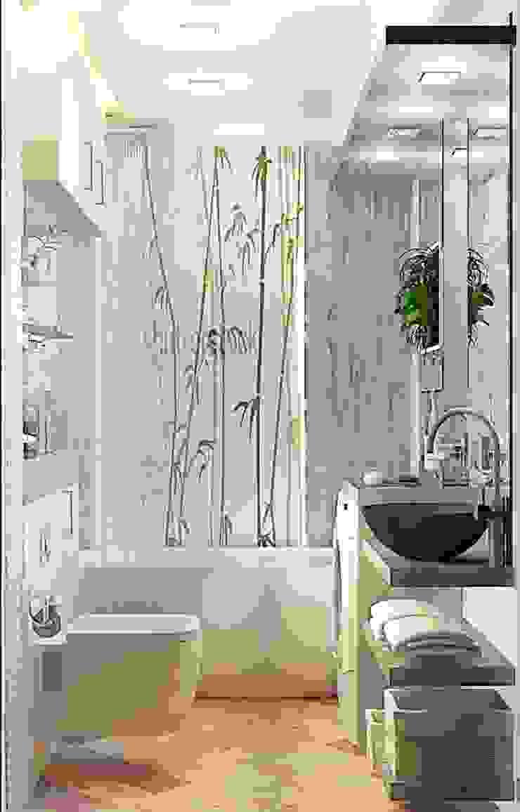 Квартира – студия Ванная комната в стиле модерн от Мозжерина Марина Модерн