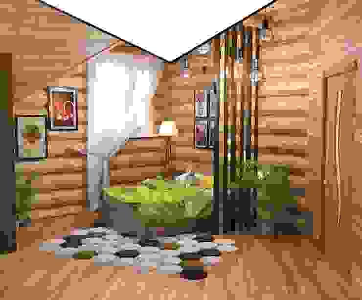Интерьер бревенчатого дома Детские комната в эклектичном стиле от Мозжерина Марина Эклектичный