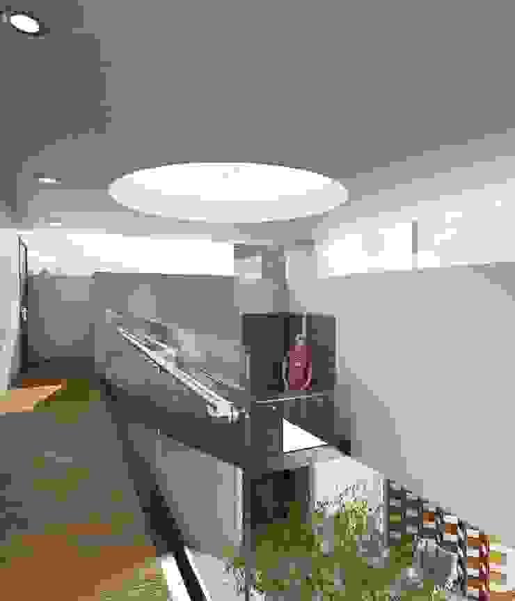 Casa FERRO Balcones y terrazas modernos de Taller Habitat Arquitectos Moderno