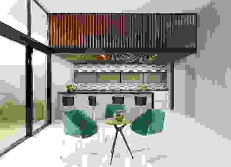 Casa FERRO Salones modernos de Taller Habitat Arquitectos Moderno