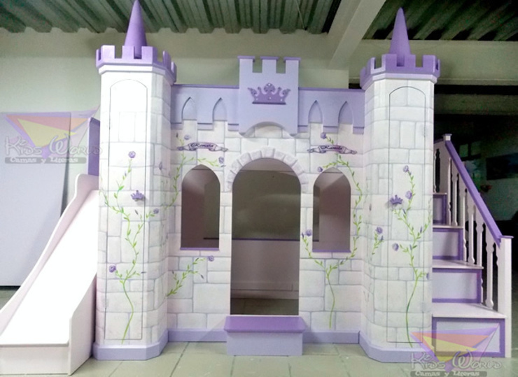 Hermoso castillo litera para niñas de camas y literas infantiles kids world Clásico