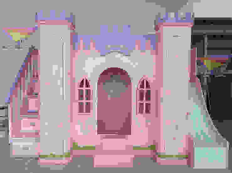 Hermoso castillo para princesas de camas y literas infantiles kids world Clásico