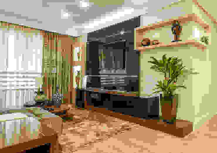 Sofisticação na sala de estar por msaviarquitetura Moderno