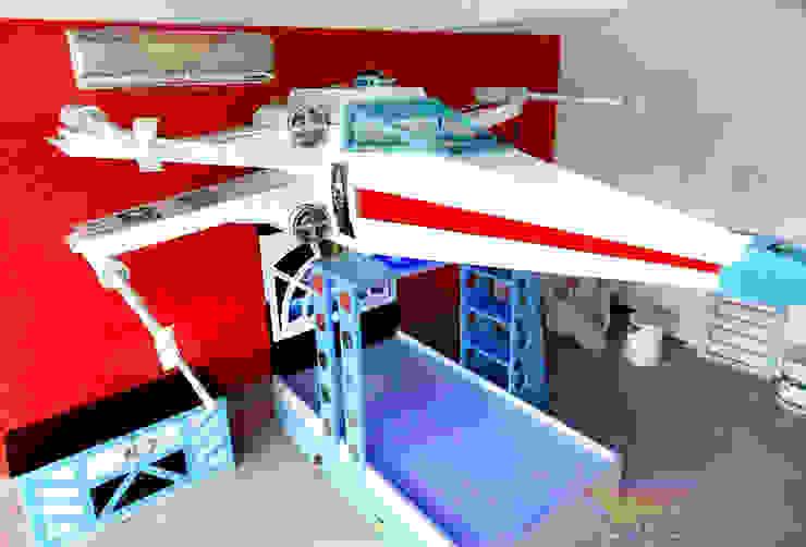 impectante cama tipo x wing de star wars de Kids Wolrd- Recamaras Literas y Muebles para niños Moderno