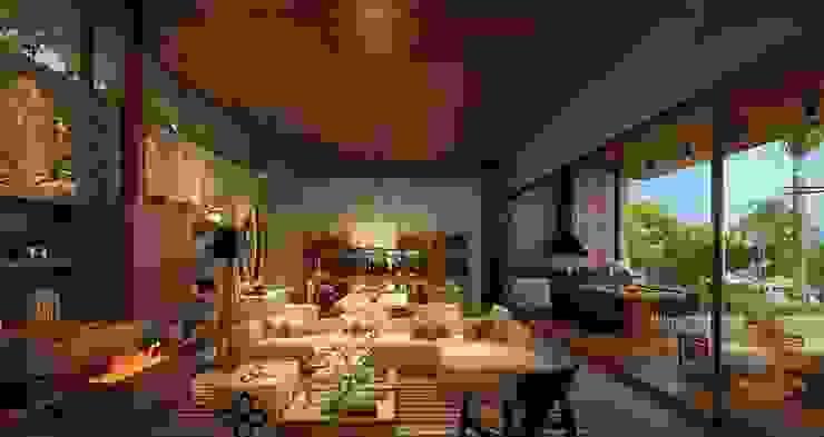 Residência Itatiba Salas de estar modernas por SESSO & DALANEZI Moderno