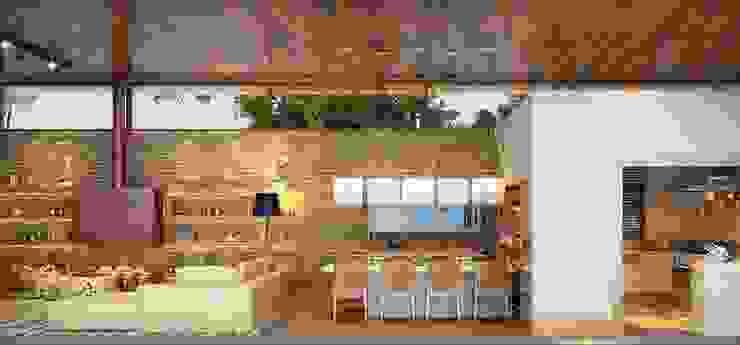 Residência Itatiba Salas de jantar modernas por SESSO & DALANEZI Moderno