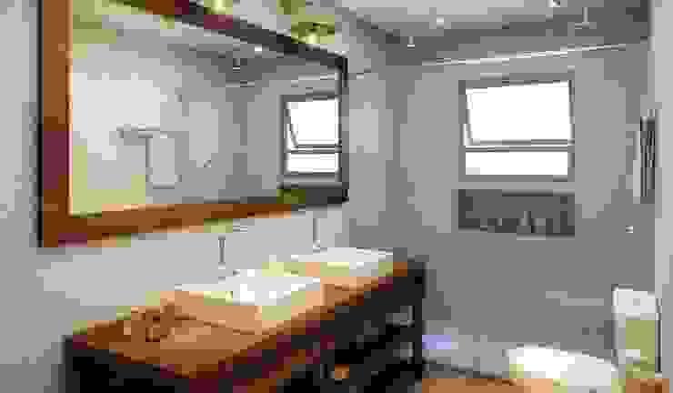 Residência Itatiba Banheiros modernos por SESSO & DALANEZI Moderno