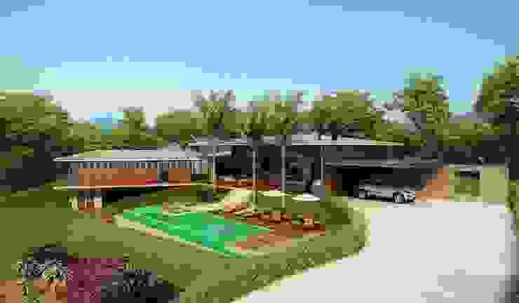 Residência Itatiba Casas modernas por SESSO & DALANEZI Moderno