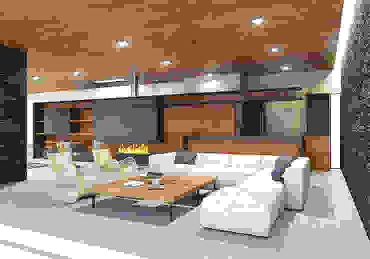 Ruang Keluarga Modern Oleh Taller Habitat Arquitectos Modern