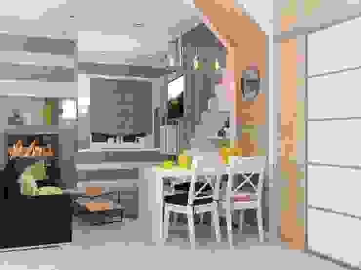 2х этажный дом Кухня в стиле лофт от Мозжерина Марина Лофт