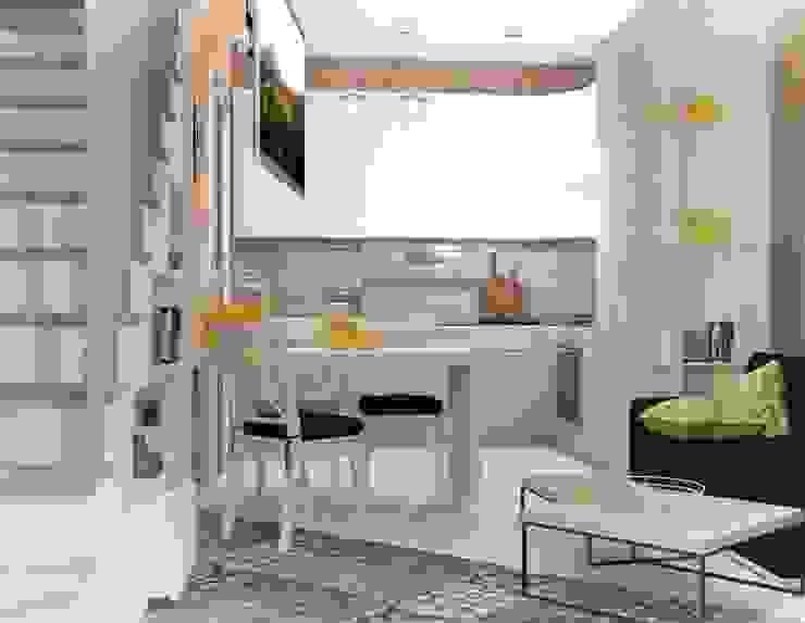 2х этажный дом: Кухни в . Автор – Мозжерина Марина , Лофт