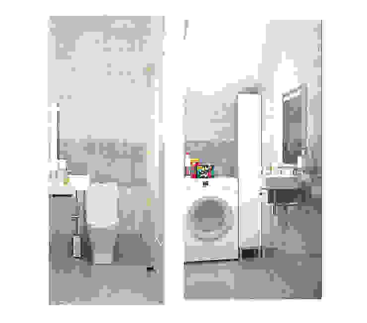 2х этажный дом Ванная в стиле лофт от Мозжерина Марина Лофт