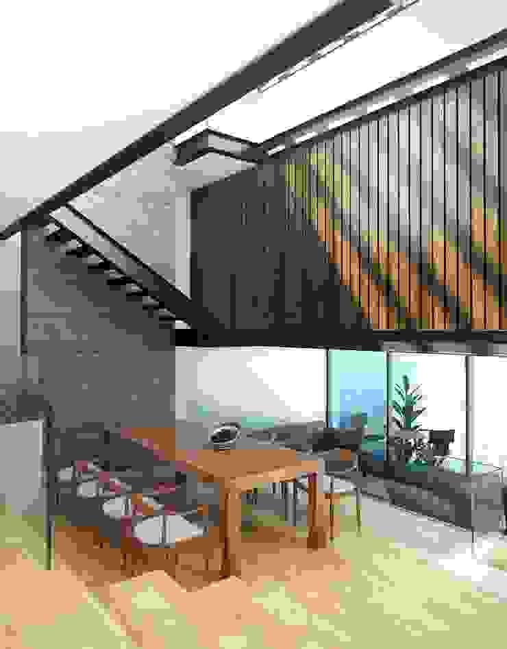 Casa Tepetate Comedores modernos de Taller Habitat Arquitectos Moderno